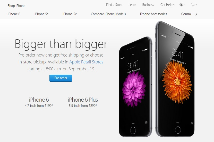 Pre-booking for iPhone 6 series starts in India