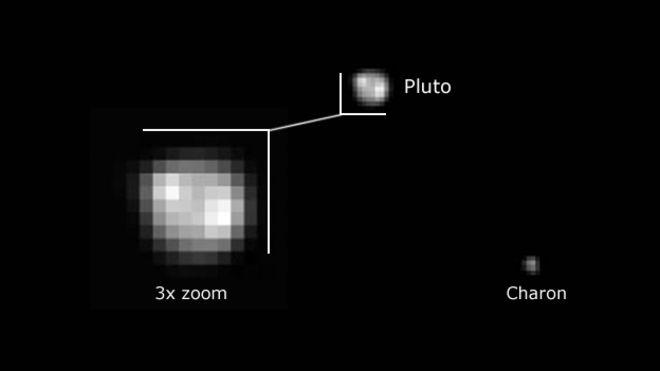 pluto bright spot images
