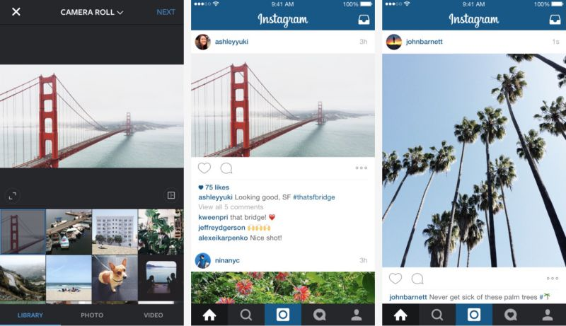Instagram now allows to upload photos in Landscape and Portrait modes