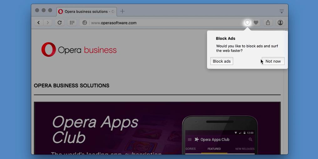Opera's built-in ad blocker could change browsing forever
