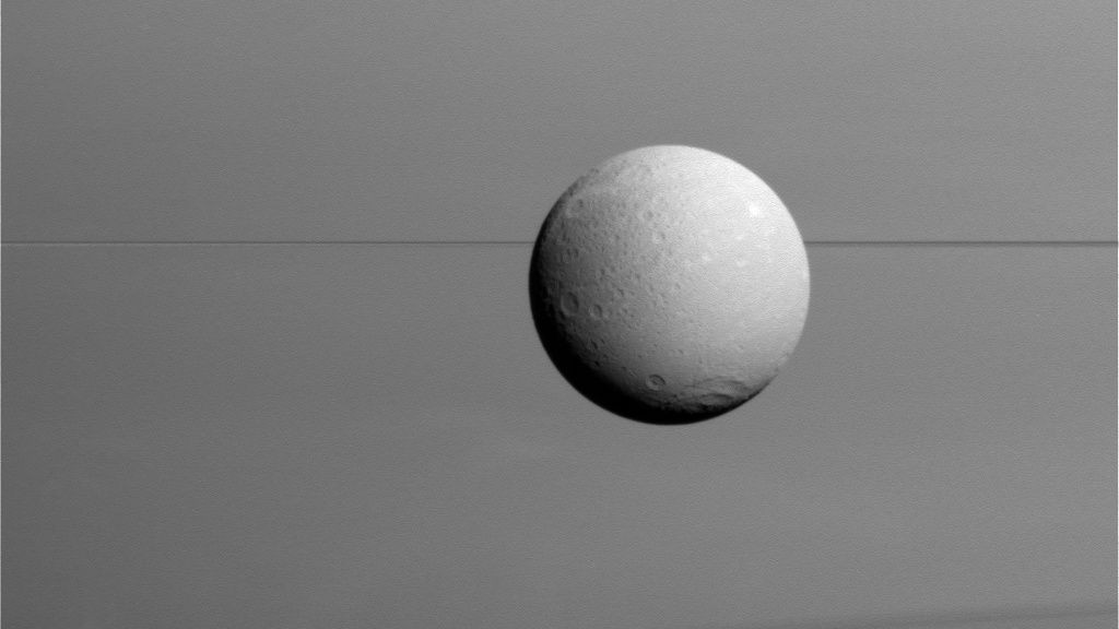 NASA releases amazing close-up images of Saturn's moon Dione